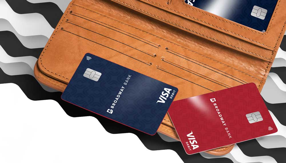 Broadway Bank Visa® Contactless Debit Cards