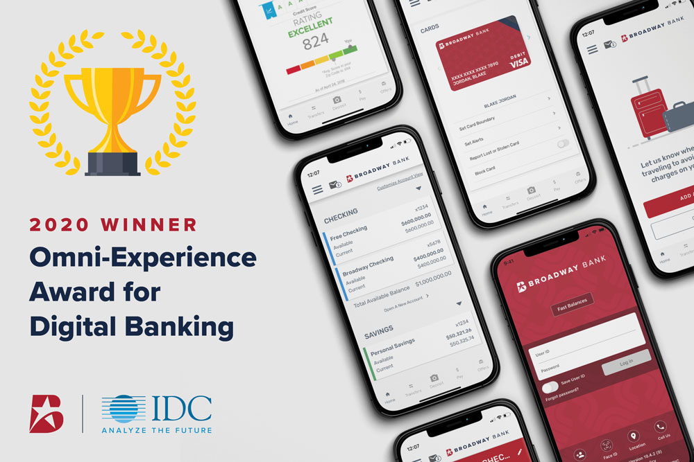 Broadway Bank Wins the IDC award for Omni-Experience and Digital Banking