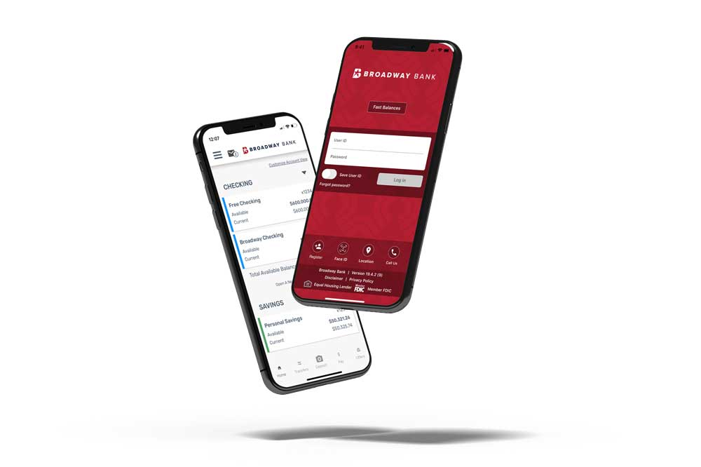 Broadway Bank's mobile app