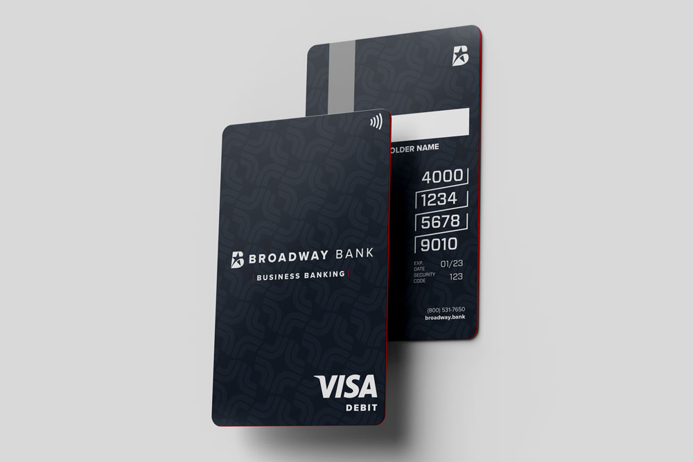 the Broadway Bank Business Banking debit card