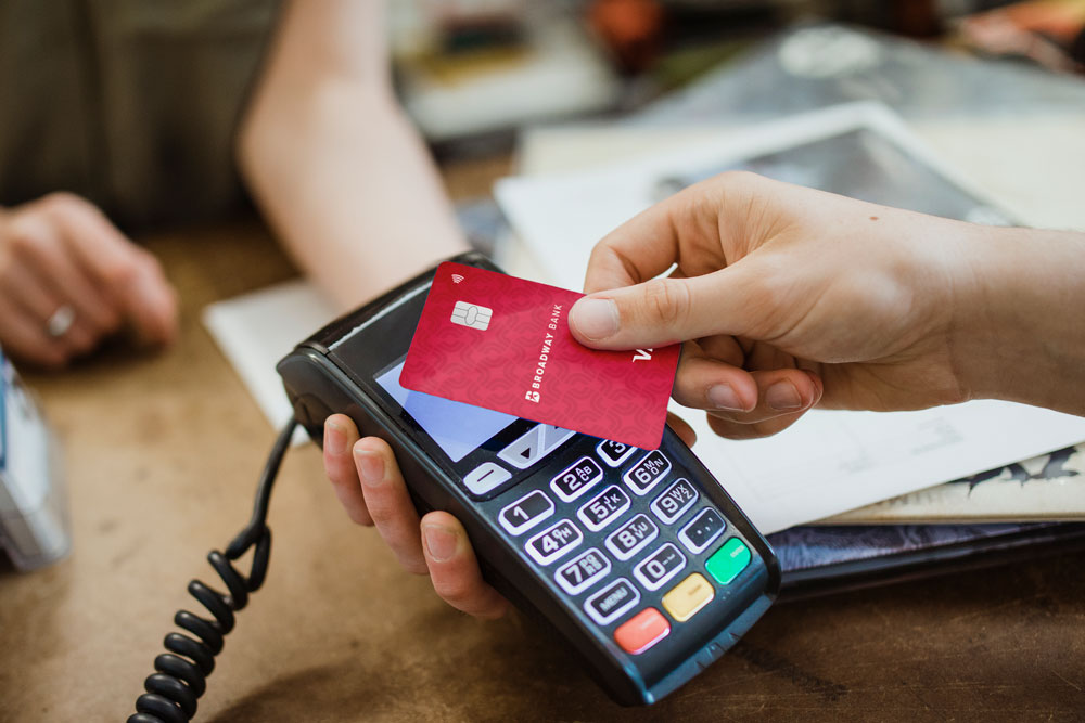 Contactless payments with a Broadway Bank Debit card