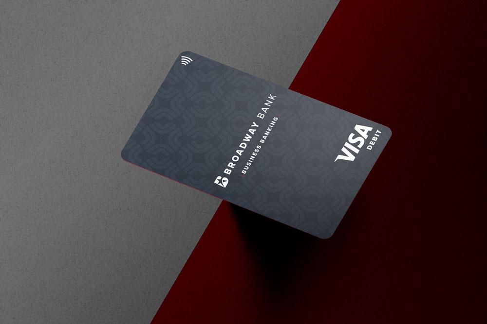 Broadway Bank Visa debit card cash rewards