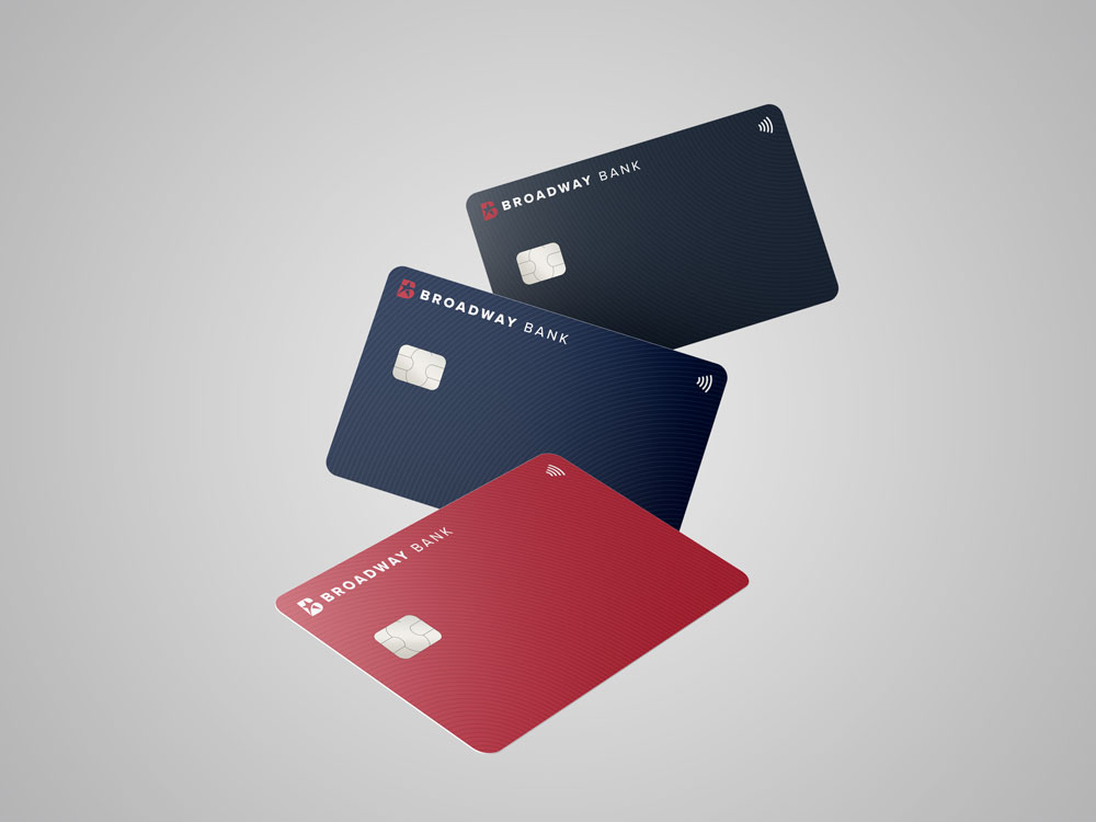 multiple credit card options from Broadway Bank