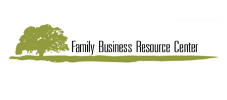 logo with a green tree and Family Business Resource Center to the right