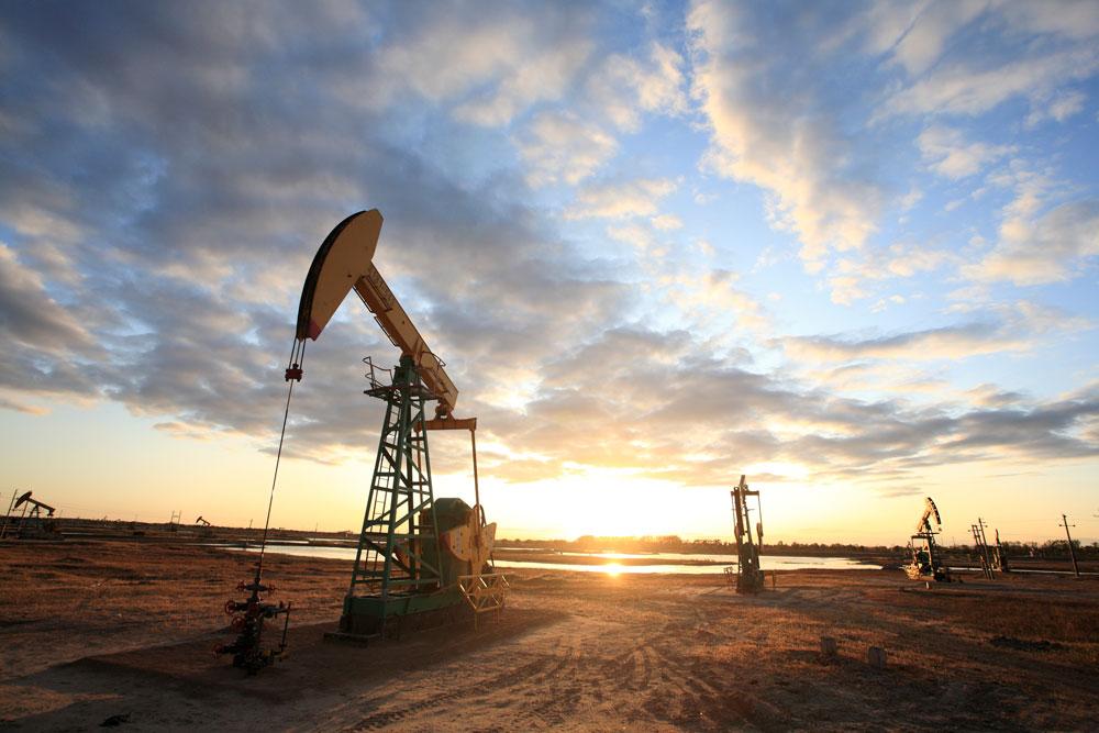 an oil field in texas