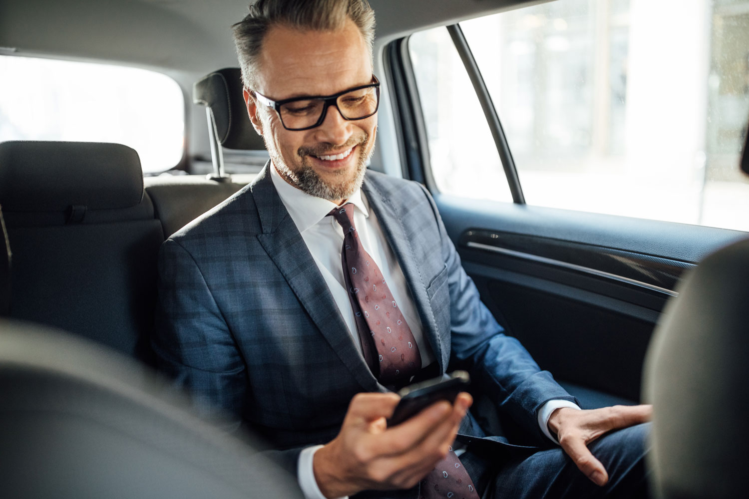 professional on phone opening a private access account